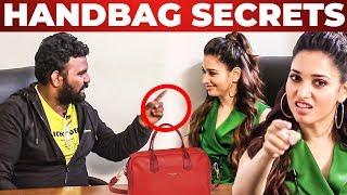 Tamannaah Handbag Secrets Revealed by VJ Ashiq | What's Inside the HANDBAG