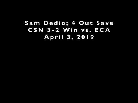 Sam Dedio, Community School of Naples (2021) #8, 4/2/2019 4-Out Save, CSN 3-2 Win v. ECA