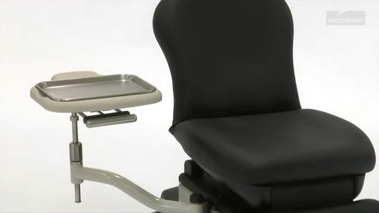 Midmark 641 Barrier Free Procedures Chair Swing Arm Instrument Trays Pc Work Shelf