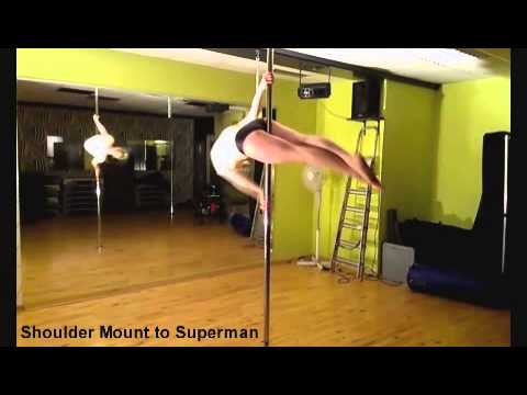 pole dance move  shoulder mount to superman vol 17