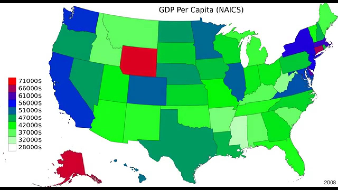 US GDP Per Capita Map   YouTube - Us gdp map
