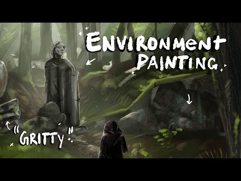 "I followed an art tutorial - ""Gritty"" Environment Painting thumbnail"