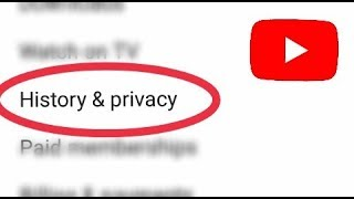 YouTube history and privacy settings