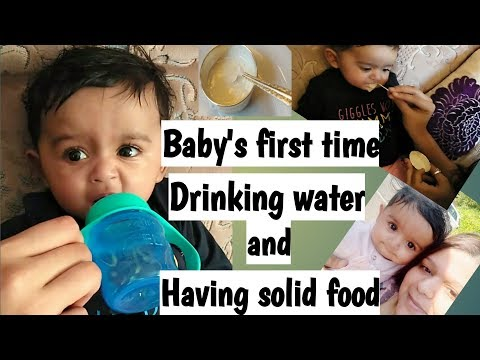 Baby's First Time Drinking Water And Having Solid Food | MY Visa Appointment