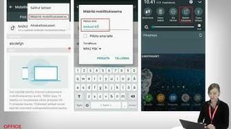OM opetusvideo 12: Nettiyhteyden jakaminen älypuhelimesta