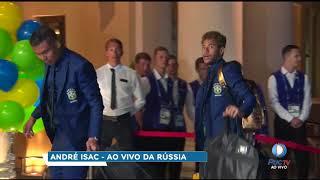 Chegada da seleção brasileira na Rússia