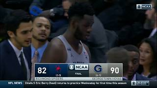 Georgetown vs Richmond Highlights: #BIGEASThoops