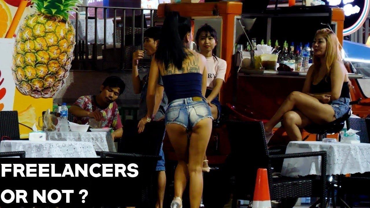 Pattaya Beach Roadside Freelancer Call Girls & Ladyboys