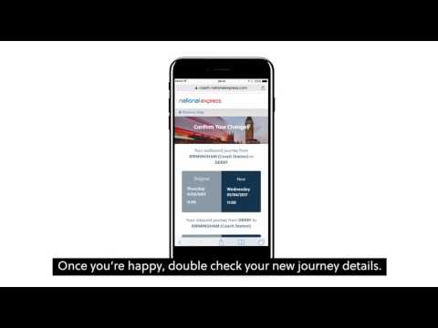 Manage your National Express booking (Subtitled)