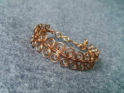 How to make twisted round bracelet - handmade copper jewelry 252