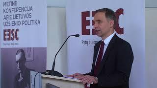 """S. Lozoraičio vardo konferencija """"Baltijos jūros regionas: dabarties ir ateities perspektyvos"""
