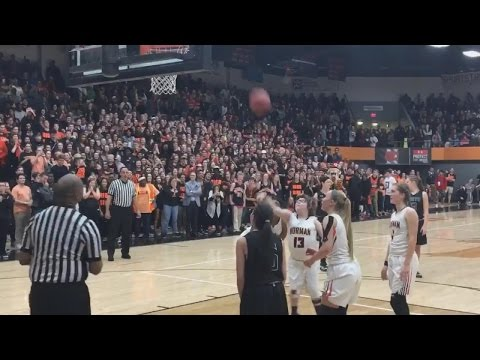 Watch Crowd Erupt As Special Needs Student Scores Final Point In Basketball Game