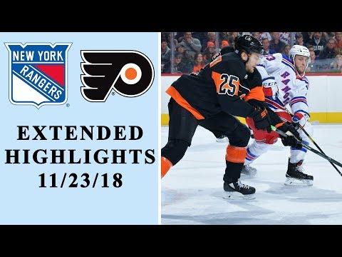 NHL Thanksgiving Showdown: Rangers Vs. Flyers I EXTENDED HIGHLIGHTS I 11/23/18 I NHL I NBC Sports