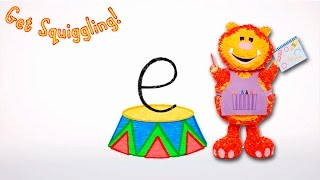 Get Squiggling Letters | Letter E