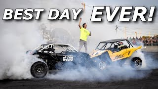 LONGEST X3 AND YXZ BURNOUT EVER!! + drags, jet cars, demo drag!