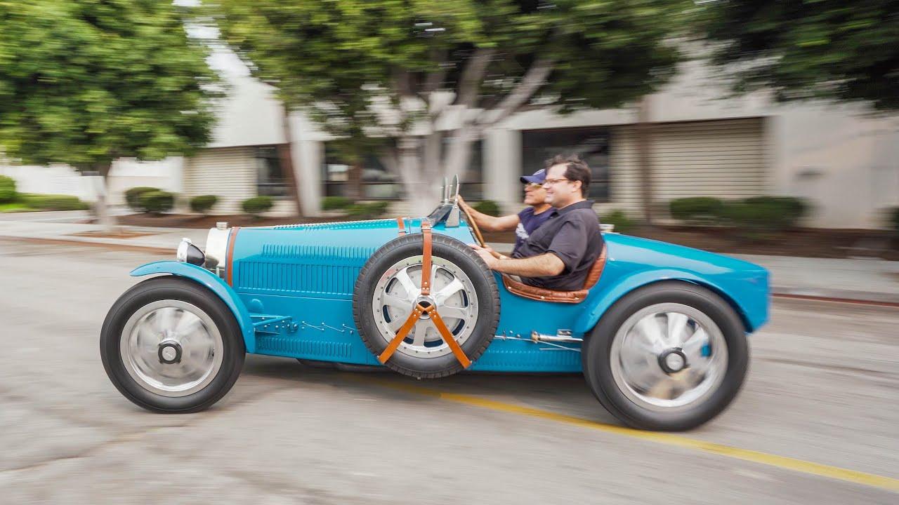 TEST DRIVING A LIFE SIZE BUGATTI TYPE 35! || Manny Khoshbin