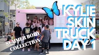 NEW KYLIE SKIN SUMMER BODY COLLECTION FULL REVIEW   Kylie Skin Truck Day 1 + goodies!