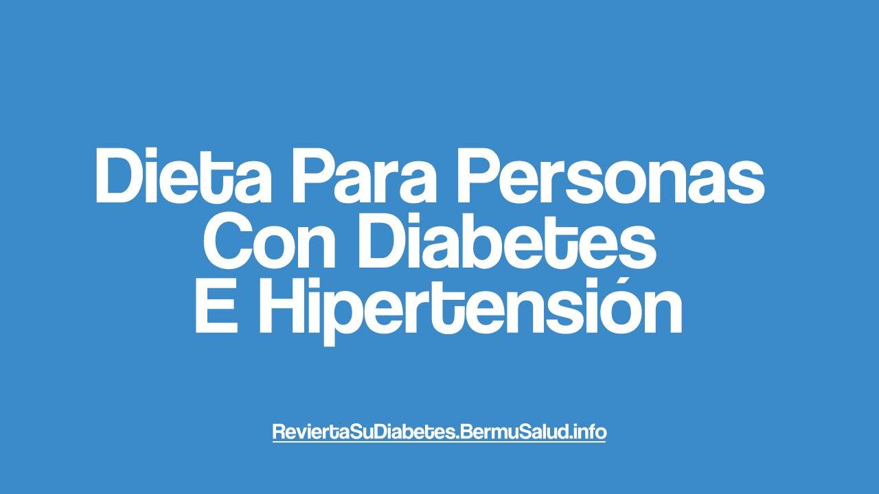 Dieta para la diabetes e hipertension