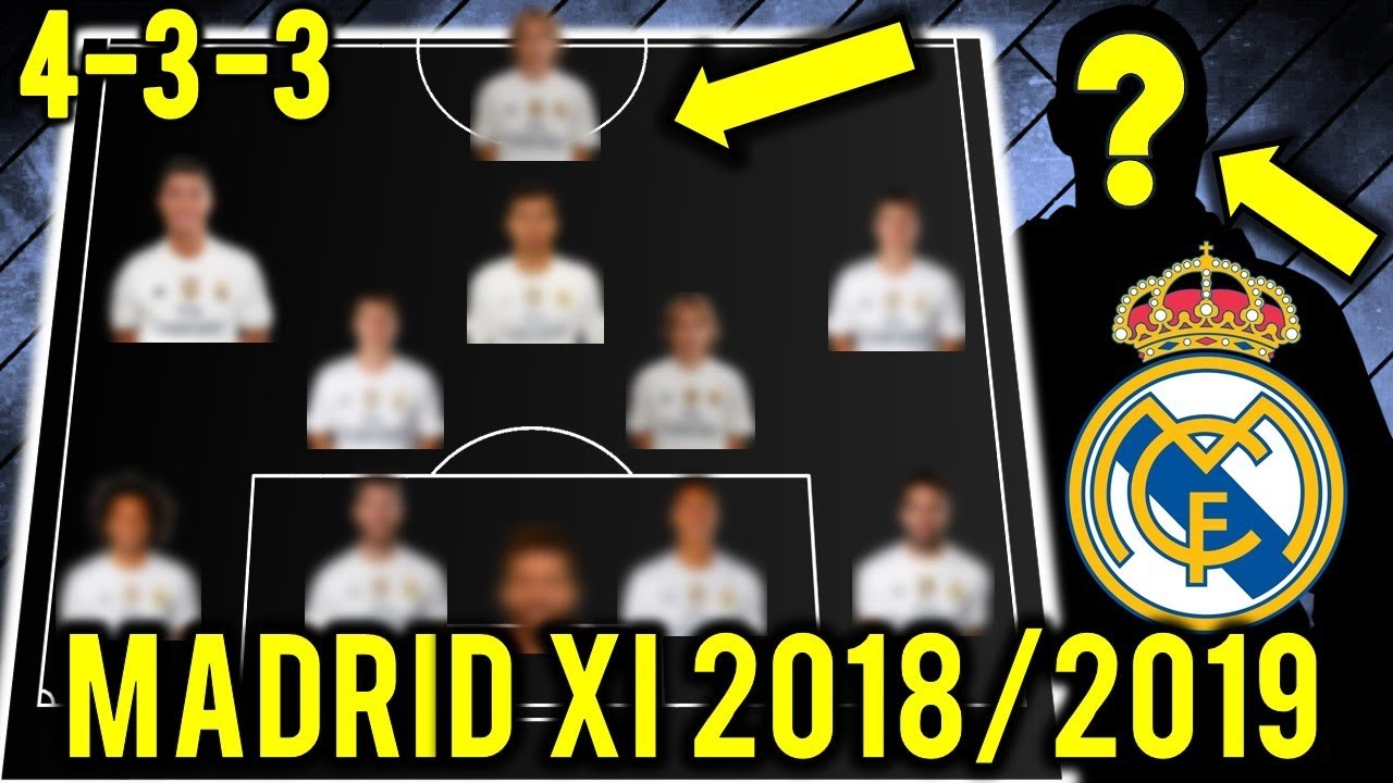 adbc14e8b real madrid possible line up xi 2018 2019 ft ronaldo  new manager