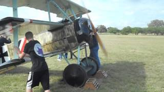 This is a quick shot of starting up a Fokker Triplane at the Kingsb...