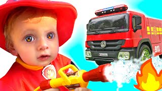 Firefighters Song for Kids by Maya and Mary
