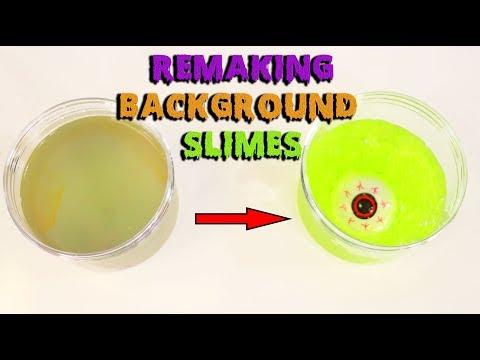 MAKING BACKGROUND SLIMES INTO HALLOWEEN SLIMES ~ Slimeatory #457
