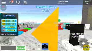 Buying the frost pack so op (roblox sky wars)