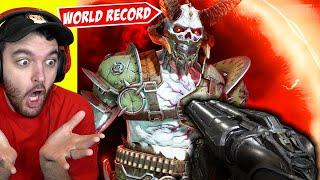 "WORLD RECORD ""DOOM ETERNAL"" SPEEDRUN... (INSANE GLITCHES)"