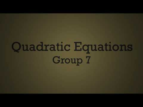 Quadratic Equation and Formula in the tune of Stitches (Group 7)