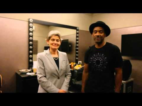 Director-General Irina Bokova and Artist for Peace Marcus Miller launch Jazz Day 2015