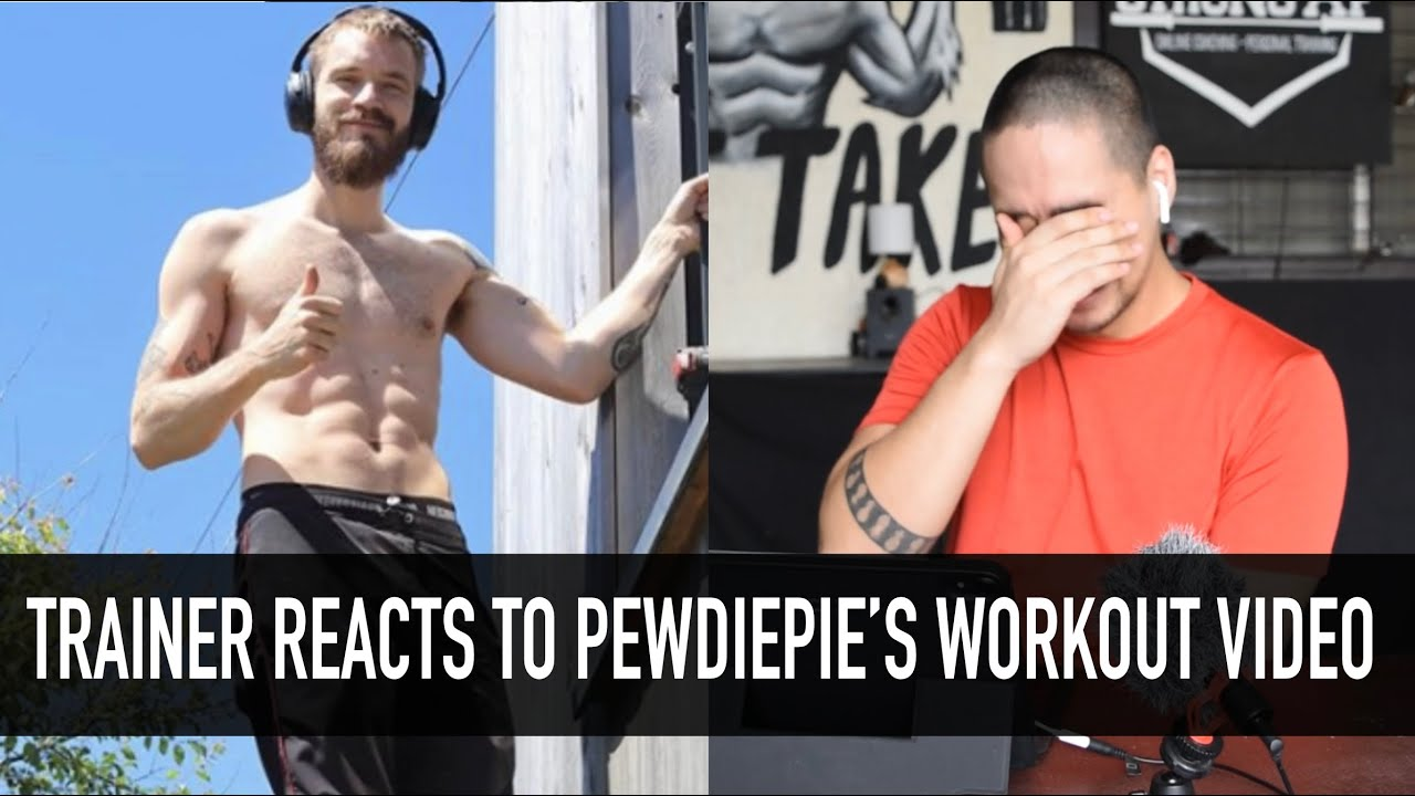 Download Personal Trainer REACTS to PEWDIEPIE Workout Review
