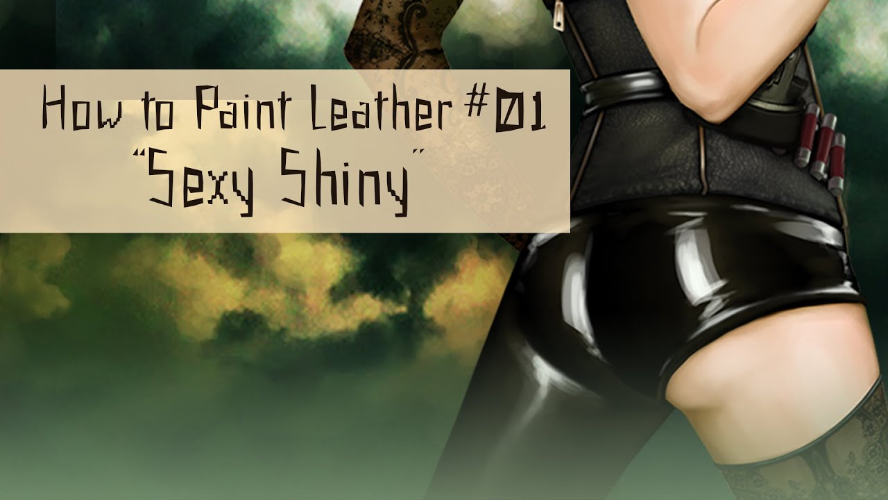 How to Paint Leather 01 Sexy Shiny  YouTube
