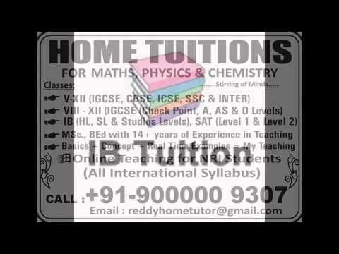 Mathematics Home Tutor /Online tutor for IGCSE,IB,SAT for all countries UK,USA,DUBAI,INDIA SINGAPORE