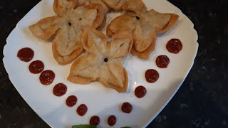 Flower samosa by Delicious food recipes