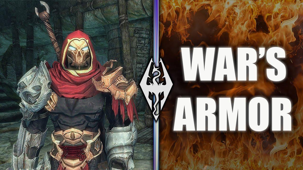 WAR'S ARMOR!!- Xbox Modded Skyrim Mod Showcase - YouTube