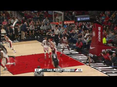 San Antonio Spurs vs Portland Trail Blazers | December 23, 2016 | NBA 2016-17 Season