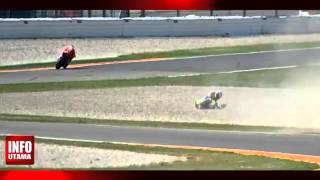 valentino rossi accident at moto gp aragon september 28 2014