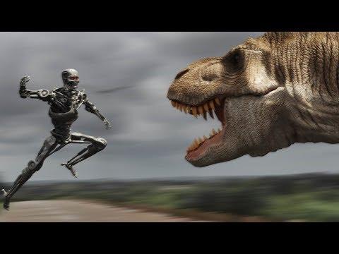 Terminator Vs. T-Rex