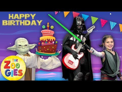 The Zoogies - Happy Birthday | Star Wars Party | Princess Leia, Yoda, Darth Vader, Luke Skywalker