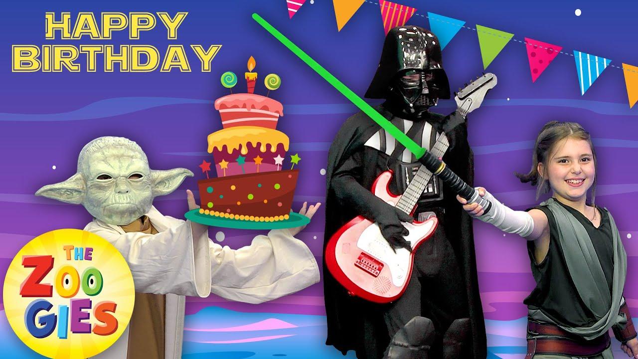The Zoogies Happy Birthday Song Star Wars Princess Leia Yoda Darth Vader Luke Skywalker Youtube