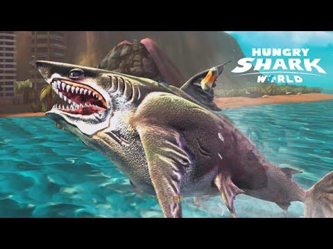 hungry shark world   megalodon biggest shark ever   youtube