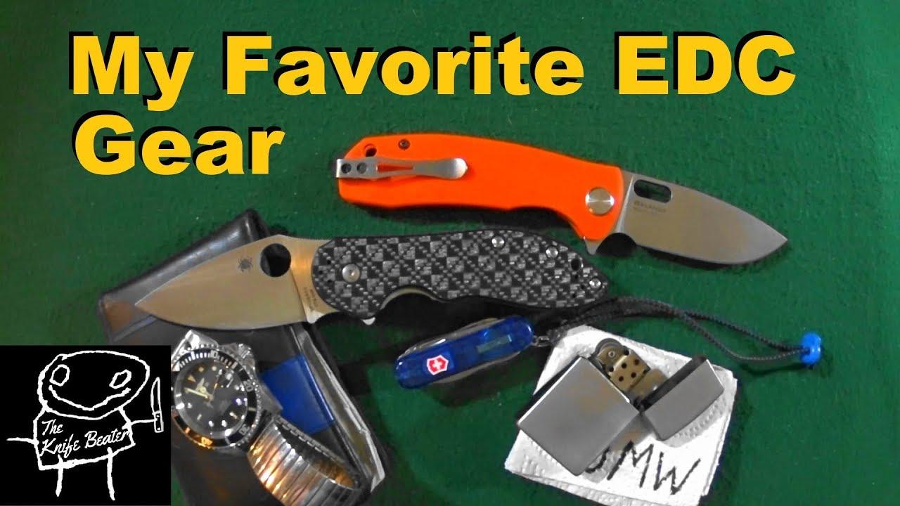 My Favorite EDC Watch Wallet Flashlight Lighter Pen Hank Knife Tag