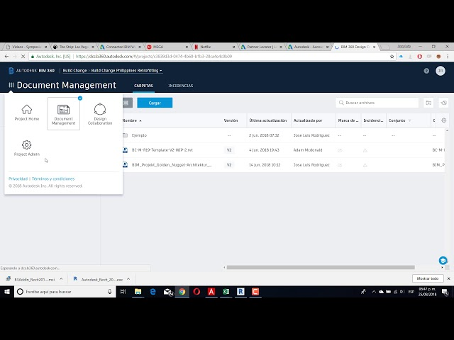 Novedades Revit 2019 1 Novedad BIM 360 Home page