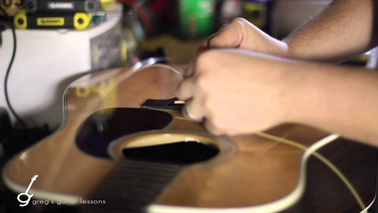 the best method on how to change acoustic guitar strings steel