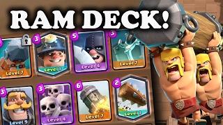 Best Battle Ram Challenge Deck   Clash Royale   Massive 12 Win Chest Opening