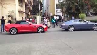 Jaguar F-Type & Aston Martin Rapide in Bangalore!!