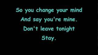 Repeat youtube video Hurts - Stay - lyrics