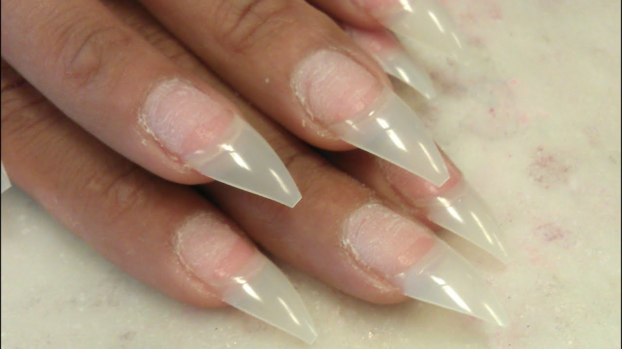 QUICK PERFECT STILETTO TIPS CUTTING TUTORIAL - YouTube