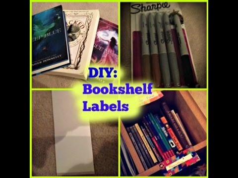 DIY Bookshelf Labels
