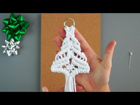 12 Days Of Christmas! Day 2: DIY Macrame Christmas Tree Ornament